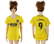Wholesale Cheap Women's Atletico Madrid #9 F.Torres Away Soccer Club Jersey