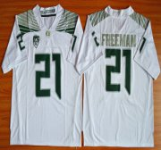 Wholesale Cheap Oregon Duck #21 Royce Freeman Light White College Football Nike Limited Jersey