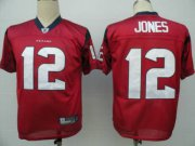 Wholesale Cheap Texans #12 Jacoby Jones Red Stitched NFL Jersey