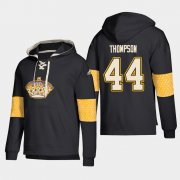 Wholesale Cheap Los Angeles Kings #44 Nate Thompson Black adidas Lace-Up Pullover Hoodie