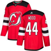 Wholesale Cheap Adidas Devils #44 Miles Wood Red Home Authentic Stitched NHL Jersey