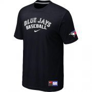 Wholesale Cheap Toronto Blue Jays Nike Short Sleeve Practice MLB T-Shirt Black