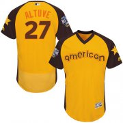 Wholesale Cheap Astros #27 Jose Altuve Gold Flexbase Authentic Collection 2016 All-Star American League Stitched MLB Jersey