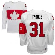 Wholesale Cheap Olympic 2014 CA. #31 Carey Price White Stitched NHL Jersey