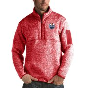 Wholesale Cheap Edmonton Oilers Antigua Fortune Quarter-Zip Pullover Jacket Red
