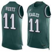 Wholesale Cheap Nike Eagles #11 Carson Wentz Midnight Green Team Color Men's Stitched NFL Limited Tank Top Jersey