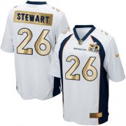Wholesale Cheap Nike Broncos #26 Darian Stewart White Men's Stitched NFL Game Super Bowl 50 Collection Jersey