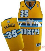 Wholesale Cheap Denver Nuggets #35 Kenneth Faried Yellow Swingman Jersey