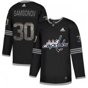 Wholesale Cheap Adidas Capitals #30 Ilya Samsonov Black_1 Authentic Classic Stitched NHL Jersey