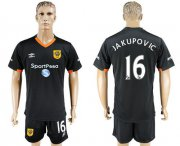 Wholesale Cheap Hull City #16 Jakupovic Away Soccer Club Jersey