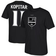 Wholesale Cheap Los Angeles Kings #11 Anze Kopitar Reebok Center Ice TNT Reflect Logo Name & Number T-Shirt Black