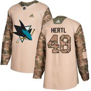 Wholesale Cheap Adidas Sharks #48 Tomas Hertl Camo Authentic 2017 Veterans Day Stitched Youth NHL Jersey