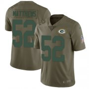 Wholesale Cheap Nike Packers #52 Clay Matthews Olive Men's Stitched NFL Limited 2017 Salute To Service Jersey