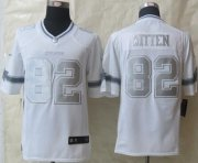 Wholesale Cheap Nike Cowboys #82 Jason Witten White Men's Stitched NFL Limited Platinum Jersey