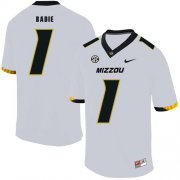 Wholesale Cheap Missouri Tigers 1 Tyler Badie White Nike College Football Jersey