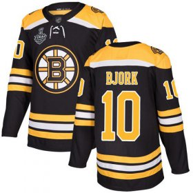 Wholesale Cheap Adidas Bruins #10 Anders Bjork Black Home Authentic Stanley Cup Final Bound Stitched NHL Jersey