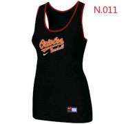 Wholesale Cheap Women's Nike Baltimore Orioles Tri-Blend Racerback Stretch Tank Top Black