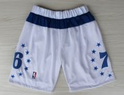 Wholesale Cheap Philadelphia 76ers White All-Star Short