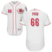 Wholesale Cheap Reds #66 Yasiel Puig White Flexbase Authentic Collection Stitched MLB Jersey