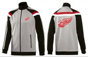 Wholesale Cheap NHL Detroit Red Wings Zip Jackets Grey