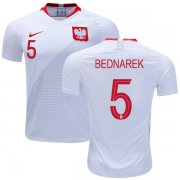 Wholesale Cheap Poland #5 Bednarek Home Soccer Country Jersey