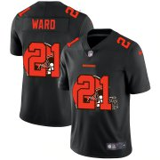 Wholesale Cheap Cleveland Browns #21 Denzel Ward Men's Nike Team Logo Dual Overlap Limited NFL Jersey Black