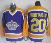Wholesale Cheap Kings #20 Luc Robitaille Purple CCM Throwback Stitched NHL Jersey