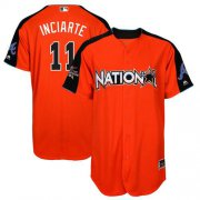 Wholesale Cheap Braves #11 Ender Inciarte Orange 2017 All-Star National League Stitched MLB Jersey