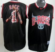 Wholesale Cheap Chicago Bulls #1 Derrick Rose Black Notorious Fashion Jersey