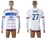 Wholesale Cheap Lyon #27 Cornet Home Long Sleeves Soccer Club Jersey