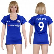 Wholesale Cheap Women's Chelsea #9 Morata Home Soccer Club Jersey