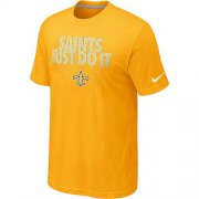 Wholesale Cheap Nike New Orleans Saints Just Do It Yellow T-Shirt