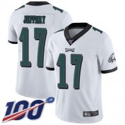 Wholesale Cheap Nike Eagles #17 Alshon Jeffery White Men's Stitched NFL 100th Season Vapor Limited Jersey