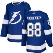 Wholesale Cheap Adidas Lightning #88 Andrei Vasilevskiy Blue Home Authentic Stitched Youth NHL Jersey