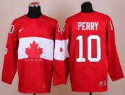 Wholesale Cheap Olympic 2014 CA. #10 Corey Perry Red Stitched NHL Jersey