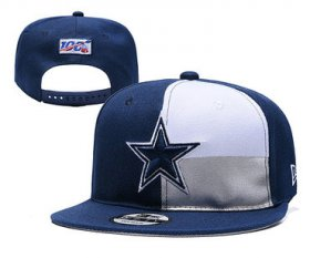 Wholesale Cheap Cowboys Team Logo Navy White 2019 Draft Adjustable Hat YD