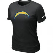 Wholesale Cheap Women's Nike Los Angeles Chargers Logo NFL T-Shirt Black