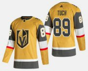 Wholesale Cheap Men's Vegas Golden Knights #89 Alex Tuch Gold 2020-21 Alternate Stitched Adidas Jersey