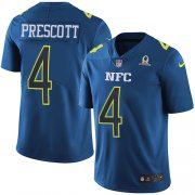 Wholesale Cheap Nike Cowboys #4 Dak Prescott Navy Youth Stitched NFL Limited NFC 2017 Pro Bowl Jersey
