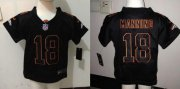 Wholesale Cheap Toddler Nike Broncos #18 Peyton Manning Lights Out Black Stitched NFL Elite Jersey