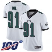 Wholesale Cheap Nike Eagles #91 Fletcher Cox White Men's Stitched NFL 100th Season Vapor Limited Jersey