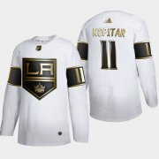 Wholesale Cheap Los Angeles Kings #11 Anze Kopitar Men's Adidas White Golden Edition Limited Stitched NHL Jersey