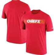 Wholesale Cheap Kansas City Chiefs Nike Sideline Seismic Legend Performance T-Shirt Red