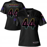 Wholesale Cheap Nike Giants #44 Doug Kotar Black Women's NFL Fashion Game Jersey