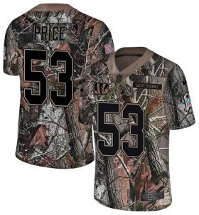 Wholesale Cheap Nike Bengals #53 Billy Price Camo Youth Stitched NFL Limited Rush Realtree Jersey