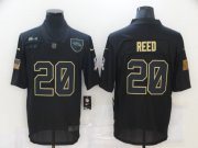 Wholesale Cheap Men's Baltimore Ravens #20 Ed Reed Black 2020 Salute To Service Stitched NFL Nike Limited Jersey