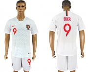 Wholesale Cheap Portugal #9 Eder Away Soccer Country Jersey