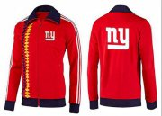 Wholesale Cheap NFL New York Giants Team Logo Jacket Red_2