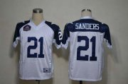 Wholesale Cheap Cowboys #21 Deion Sanders White Thanksgiving Stitched NFL Jersey