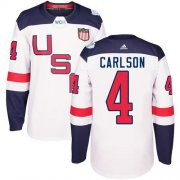 Wholesale Cheap Team USA #4 John Carlson White 2016 World Cup Stitched Youth NHL Jersey